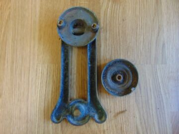 Original Arts and Crafts Brass Door Knocker D067-0918 Antique Door Knockers