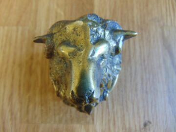 Antique Rams Head Door Knocker D137-0918 Antique Door Knockers.