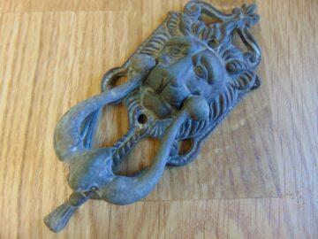 Antique Brass Lion's Head Door Knocker D293-0918 Antique Door Knockers