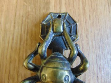 Antique Brass Spider Door Knocker D135-1018 Antique Door Knocker Company.