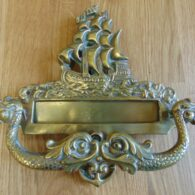 Antique Nautical Letter Box and Door Knocker D457-1018 Antique Door Knocker Company.