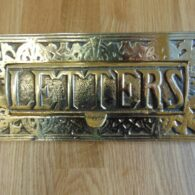 Reproduction Large Brass Letter Box RD025L Antique Door Knocker Company.