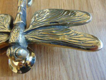 Reproduction Brass Dragon Fly Door Knocker RD027L Antique Door Knocker Company.