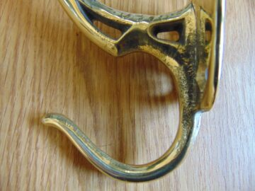 Brass Art Nouveau Coat Hook RD032Antique Door Knocker Company.