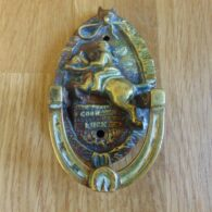 Antique Huntsman Door Knocker D248 1118 Antique Door Knockers.