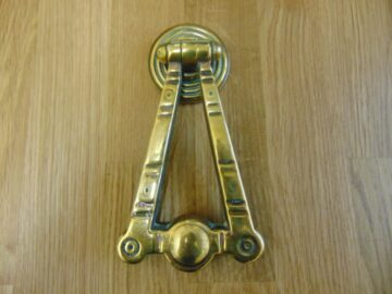 Polished Brass Arts & Crafts Door Knocker D502 1118 Antique Door Knocker Company