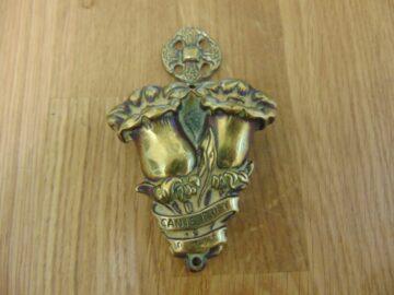 Antique Brass Canterbury Bells Door Knocker D137-1218 Antique Door Knockers
