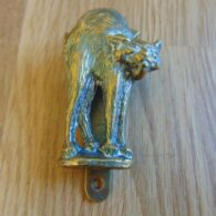 Antique Manx Cat Door Knocker D036-0119 Antique Door Knockers
