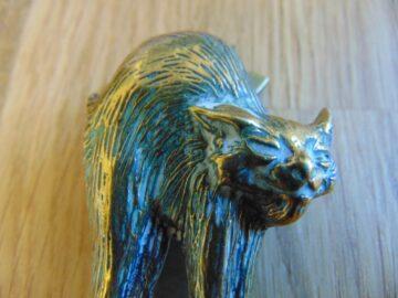 Antique Manx Cat Door Knocker D036-0119 Antique Door Knockers