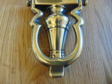 Brass Edwardian Door Knocker D481-0119 Antique Door Knockers
