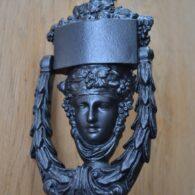 Cast Iron Dionysus Door Knocker D376-0319 Antique Door Knockers