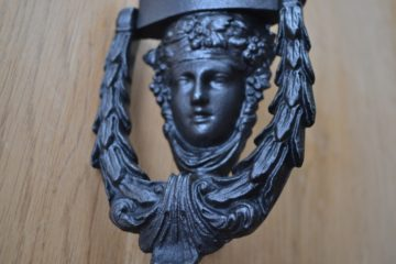 Cast Iron Dionysus Door Knocker D376-0319 Antique Door Knockers