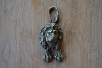 Reclaimed Brass Lion Door Knocker D487-0419 Antique Door Knocker Company