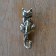Reproduction Brass Cat Door Knocker RD001 Antique Door Knocker Company.