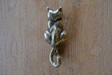 Reproduction Brass Cat Door Knocker RD001 Antique Door Knocker Company.