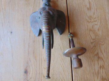 Antique Elephant Door Knocker D050L-0519 Antique Door Knocker Company