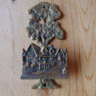 Antique Brass Shakespeare's House Door Knocker D394-0619 Antique Door Knocker Company