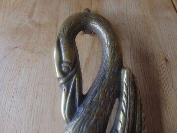 Brass Swan Door Knocker D259-0719