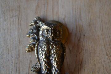 Brass Owl Door Knocker D187-1019