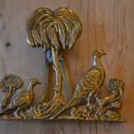 Antique Brass Pheasant Door Knocker D030-1219 Antique Door Knocker Company