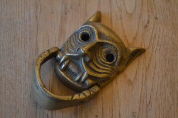 Antique Tribal Mask Door Knocker D513-1219 Antique Door Knocker Company
