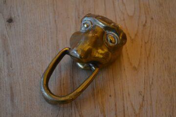 Antique Face Door Knocker D615-1219 Antique Door Knocker Company