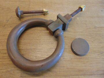 Aged Finish Ring Door Knocker - D114-0220 Antique Door Knocker Company