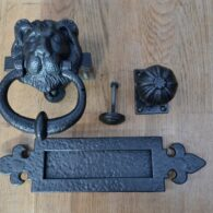 Cast Iron Georgian Lion Door Knocker Furniture Set D267L-0220 Antique Door Knocker Company