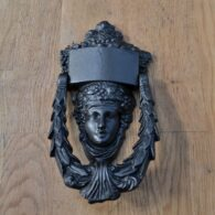 Antique Cast Iron Dionysus Door Knocker D344L-0220 Antique Door Knocker Company