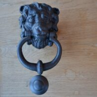 Lion Door Knocker D009L-0220 Antique Door Knocker Company