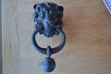 Lion Door Knocker D009L-0220 Antique Door Knocker Company