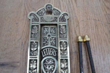 Antique Brass Letterbox D367-0220 Antique Door Knocker Company