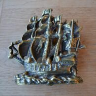 Brass Galleon Sailing Ship D572-0220