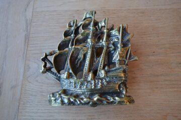 Brass Galleon Sailing Ship D572-0220