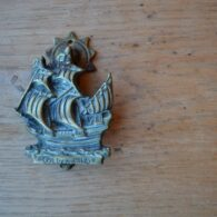 Brass Golden Hind Door Knocker D584-0220
