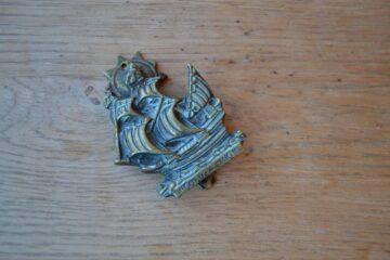 Brass Golden Hind Door Knocker D584-0220