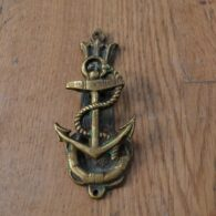Antique Brass Anchor Door Knocker D620-0220 Antique Door Knocker Company