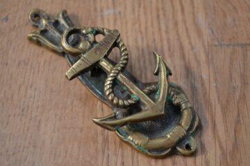 Antique Brass Anchor Door Knocker D620-0220 Antique Door Knocker Company
