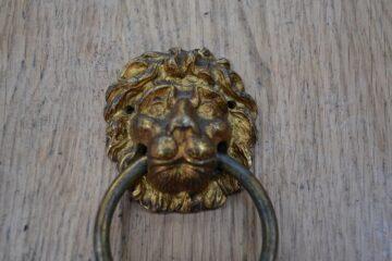 Small Lion Door Knocker D621-0220 Antique Door Knocker Company