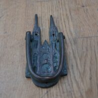 Antique Brass Cathedral Door Knocker D627-0220 Antique Door Knocker Company
