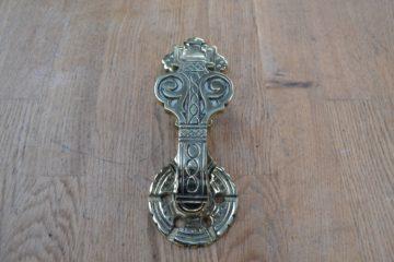 Brass Victorian Arts & Crafts Door Knocker RD014L Antique Door Knocker Company