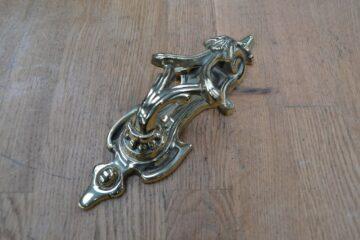 Brass Victorian Scroll Door Knocker RD016L Antique Door Knocker Company