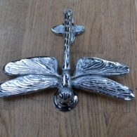 Large Chrome Dragon Fly Door Knocker RD017L Antique Door Knocker Company