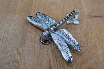 Large Chrome Dragon Fly Door Knocker RD017L Antique Door Knocker Company