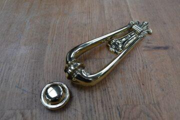 Victorian Brass Drop Door Knocker RD018L Antique Door Knocker Company