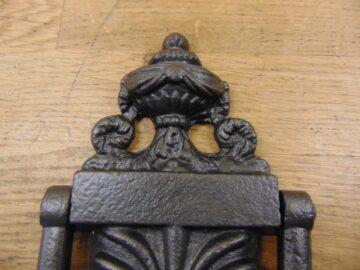 Victorian Cast Iron Door Knocker - D009L-0720 - Antique Door Knocker Company