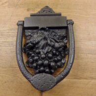 Grapes Cast Iron Door Knocker - D045L-0720 - Antique Door Knocker Company