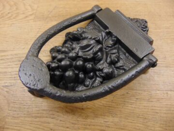 Grapes Cast Iron Door Knocker - D045L-0720 - Antique Door Knocker Company