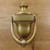 Brass Urn Door Knocker - D268L-0720 - Antique Door Knocker Company