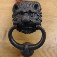 Original Cast Iron Lion Door Knocker D350L-0720 - Antique Door Knocker Co